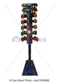 stock illustration of drag racing tree csp17453586