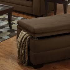 Wood Storage Ottoman Microfiber Ottomans U0026 Poufs You U0027ll Love Wayfair