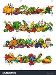 thanksgiving boarders vector thanksgiving border set hand drawn stock vector 327275324