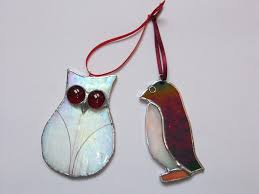 image result for unique stained glass christmas ornaments