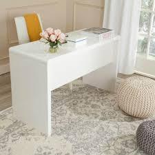White Modern Desk by Safavieh Kaplan White Desk Fox2201a The Home Depot