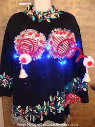 80s light up ugly christmas jumper naughty sweater