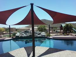 Awning Sails How Shade Sails Give You Sun Protection Over Your Pool Arizona