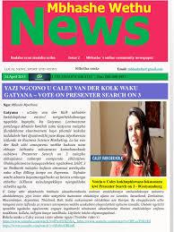mbhashe wethu news isssu issue 2 by mbhashe wethu news issuu