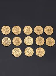 arras de oro 1224 lote de trece monedas de oro arras inglesas