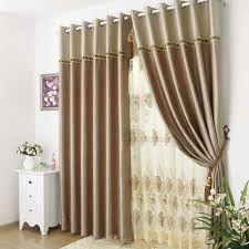 Bedroom Curtains Brown Patterned Curtains Are Delicate
