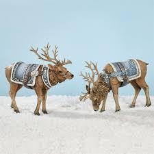 majestic deer figurine set by