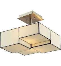 Semi Flush Mount Elk Lighting 72061 2 Led Cubist Brushed Nickel 13 Inch 2 Light