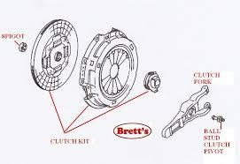 r0256n r0256 clutch kit mitsubishi canter fe211 4d30 3 3l 1981