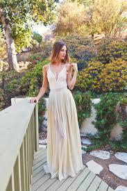 2 piece lace backless wedding dress dreamy silk chiffon skirt