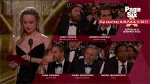 brie larson casey affleck brie larson on affleck win not clapping spoke for itself page six