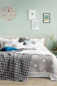 bedroom star lights mint watery blue green walls grey accents comfy bed i like the