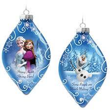 disney heirloom glass frozen tree ornaments