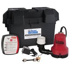 basement watchdog emergency battery backup sump pump system bwe
