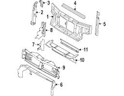 radiator for 2007 ford explorer parts com ford radiator support radiator support air deflector