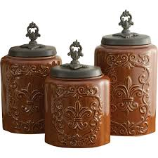 brown kitchen canister sets design guild 3 kitchen canister set reviews wayfair