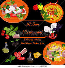 vector menu italian dishes caprese caprese stock vector 523232065