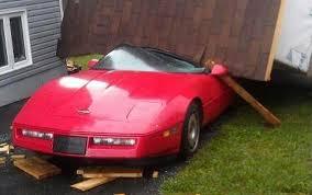 corvette c4 forum pic hurricane leslie drops a shed on a c4 corvette corvette