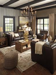 Living Rooms With Brown Leather Furniture Photos Hgtv