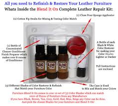 Leather Sofa Rip Repair Kit by Furniture Blend It On Complete Leather Refinish And Repair Kit
