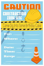 amazon com construction birthday party invitations fill in