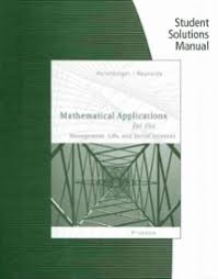 student solutions manual for harshbarger reynolds u0027 mathematical