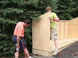How To Build A Wood Shed Plans by Build A Trash Shed Hgtv