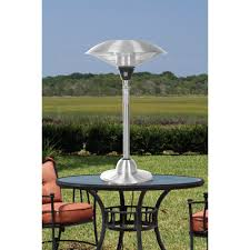 Stainless Steel Patio Heater Fire Sense Stainless Steel 1500 Watt Electric Tabletop Patio