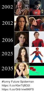 Funny Memes 2012 - 2002 2012 2016 2025 2035 funny future spiderman httpstcokbnttjbd2i