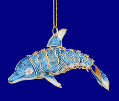 cloisonne dolphin ornament gift