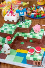 gateau anniversaire animaux gâteau minecraft macaronette et cie
