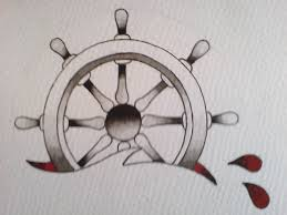 ship wheel tattoo flash best 25 wheel tattoo ideas on pinterest