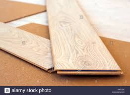 Laminate Floor Planks Laminate Floor Planks Crossed Renovation Concept Stock Photo