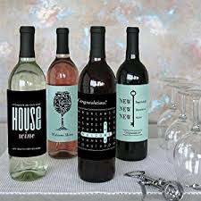 wine sler gift set home sweet home wine bottle labels housewarming