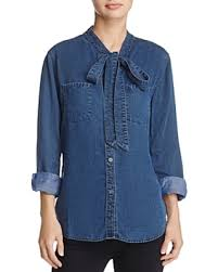 chambray blouse amazing deal on rails rosalee tie neck chambray shirt