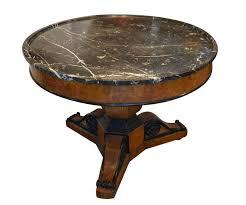 marble top pedestal table antique walnut burl wood marble top pedestal table with ebonized