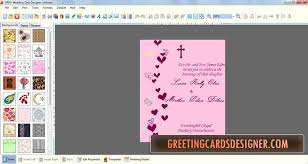 wedding program maker special craft colorful wedding wishing cards downloads