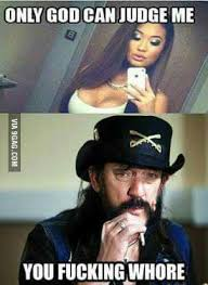 Lemmy Meme - who would win in an arm wrestling match lemmy or god trick