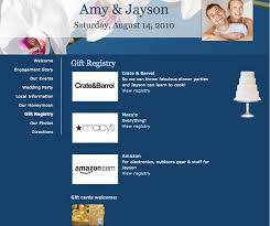 registry wedding website and jayson s wedding website shows where they re registered