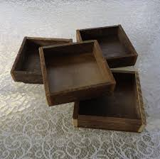 wood box reclaimed wood tray box rustic wedding centerpiece