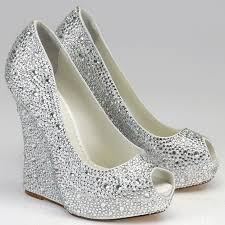 wedding shoes wedges silver rhinestone wedge shoes above silver wedge bridesmaid