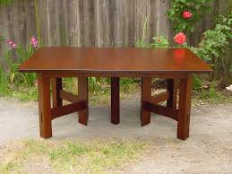 dining table center voorhees craftsman mission oak furniture gustav stickley