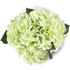 amazon com silk hydrange green 5 heads soledi artificial flower