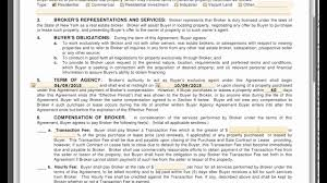 Sample Investment Agreement Forms Buyers Agency Agreement Youtube