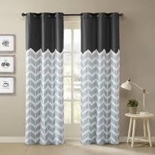chevron curtains you u0027ll love wayfair