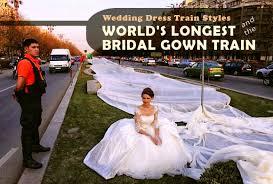 wedding dress train styles and the world u0027s longest bridal gown