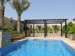 Pool With Pergola by Wooden Pergola Contractor