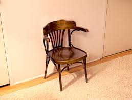 wooden chair pressed into service for thanksgiving
