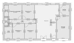plan de maison 5 chambres plain pied plan maison en l 5 chambres plan maison