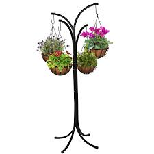 amazon com cobraco 4 arm tree with 4 hanging baskets hb4t a